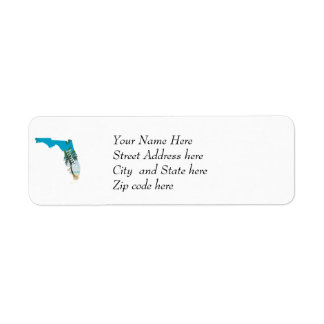 FLORIDA Home  Beach Ocean Palm Tree Filled Label