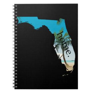 FLORIDA Home  Beach Ocean Palm Tree Filled Notebook