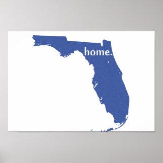 Florida Home blue Poster
