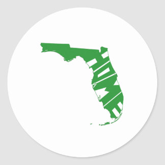 Florida Home Classic Round Sticker