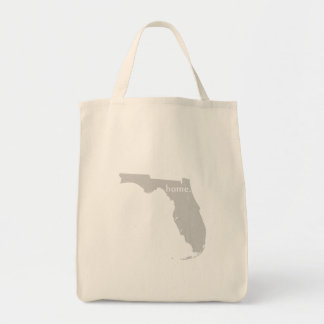 Florida home silhouette state map tote bag
