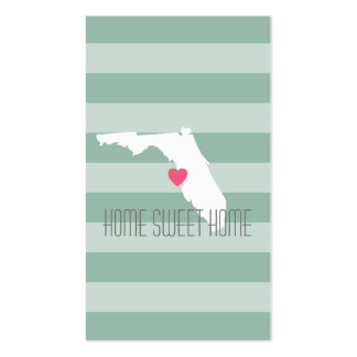 Florida Home State Love with Custom Heart Business Card