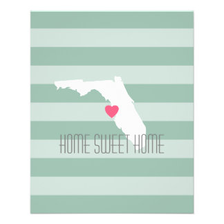 Florida Home State Love with Custom Heart Flyer