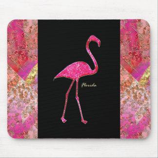 Florida Hot Pink Flamingo Mouse Pad