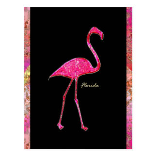Florida Hot Pink Flamingo Postcard