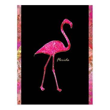 amarisperez Florida Hot Pink Flamingo Postcard