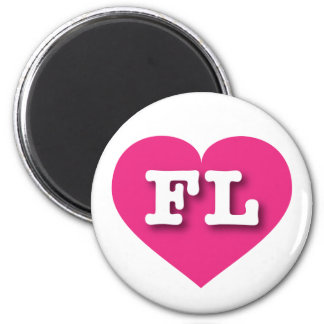 Florida Hot Pink Heart - Big Love Magnet
