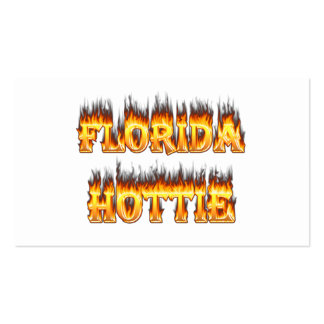 Florida Hottie Fire and Flames Business Card Template