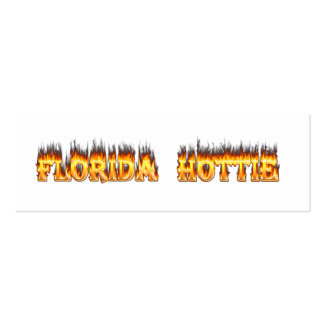 Florida Hottie Fire and Flames Business Card