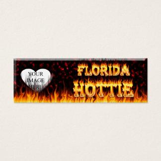 Florida hottie fire and flames design. mini business card