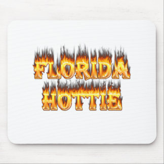 Florida Hottie Fire and Flames Mouse Pad
