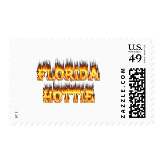Florida Hottie Fire and Flames Postage Stamp