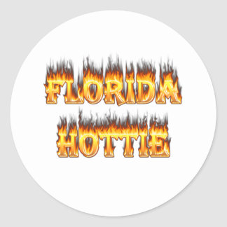 Florida Hottie Fire and Flames Stickers