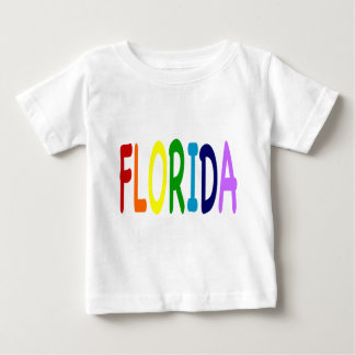 FLORIDA in a  rainbow of colors Baby T-Shirt