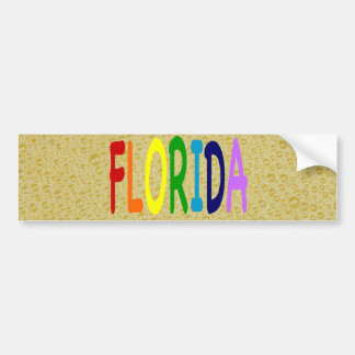 FLORIDA in a  rainbow of colors Bumper Stickers