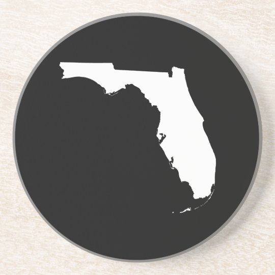 Florida in White and Black Drink Coaster