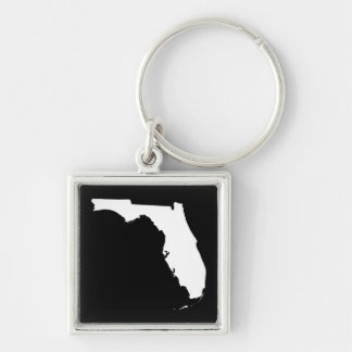 Florida in White and Black Keychain