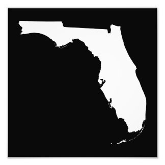 Florida in White and Black Photograph