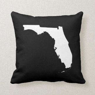 Florida in White and Black Pillow