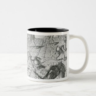 Florida Indians planting maize Two-Tone Coffee Mug