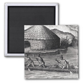 Florida Indians Storing their Crops Magnet