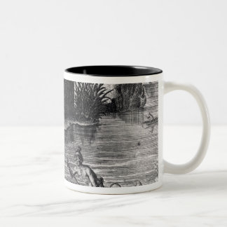Florida Indians Storing their Crops Two-Tone Coffee Mug