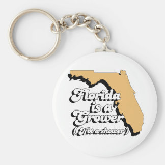 Florida is a Grower Not a Shower Keychains