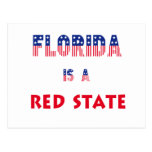 Florida is a Red State Postcard