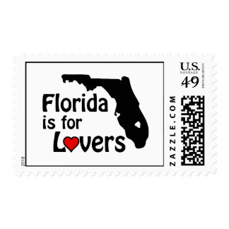 Florida is for Lovers Postage Stamps