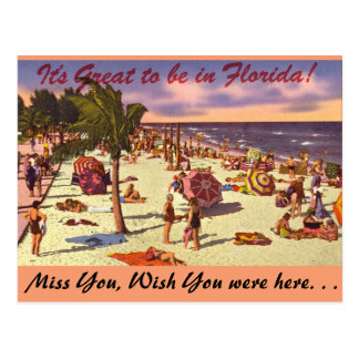Florida, It's Great to be in Postcard