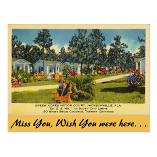 Florida, Jacksonville, Green Acres Postcard