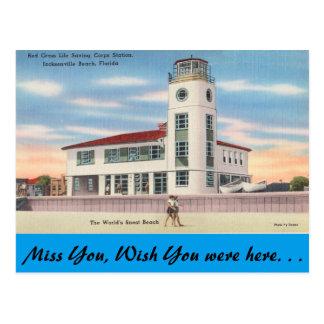 Florida, Jacksonville, Life Saving Station Postcard