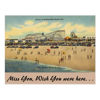 Florida, Jacksonville, Worlds finest beaches. Postcard