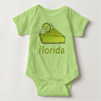 Florida Key Lime Pie Slice Dessert Foodie Gift Baby Bodysuit