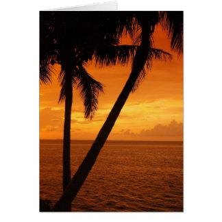 Florida Key s Sunset Greeting Card