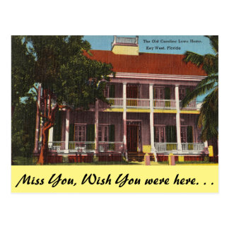 Florida, Key West, Old Lowe House Postcard