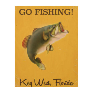Florida Key West vintage fishing poster