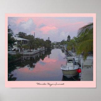 Florida Keys Canal Sunset Print
