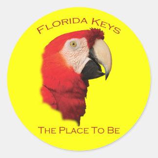 Florida Keys Classic Round Sticker
