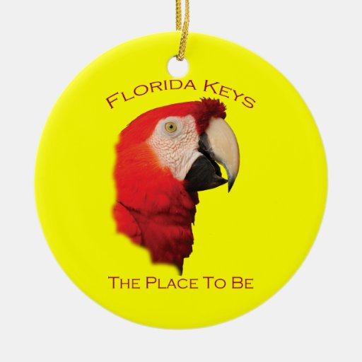 Florida Keys Double-Sided Ceramic Round Christmas Ornament