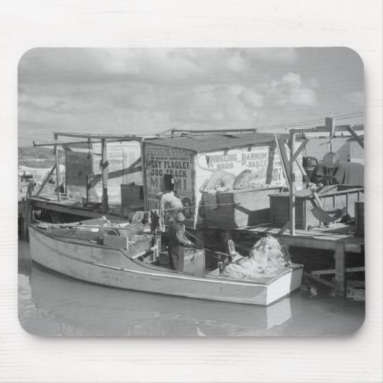 Florida Keys Fishing, 1938 Mouse Pad