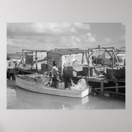 Florida Keys Fishing, 1938 Poster