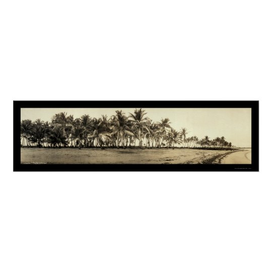 Florida Keys Fishing Photo 1912 Poster