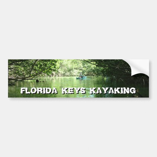 Florida Keys Kayaking Car Bumper Sticker