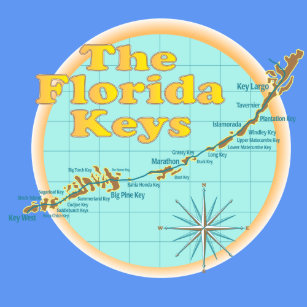 Map Florida Keys.Map Of The Florida Keys Clothing Zazzle