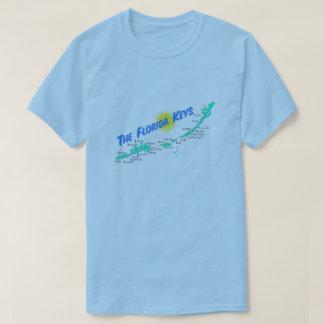 Florida Keys Map retro illustration T-Shirt