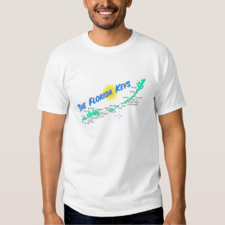 Florida Keys Map retro illustration Tshirt
