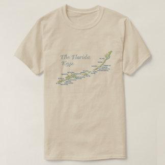 Florida Keys Map T-Shirt