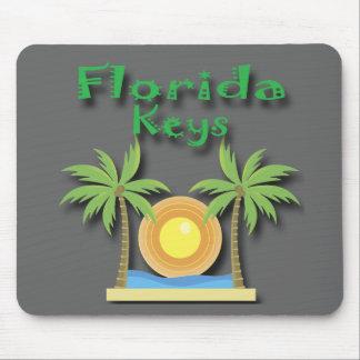 Florida Keys Palms green Mouse Pad