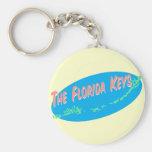 Florida Keys retro map art Keychain
